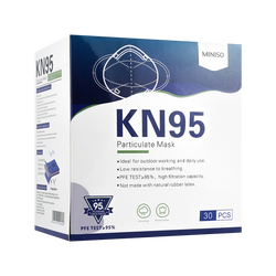 名创优品MINISO 成人一次性防护口罩KN95 30片装