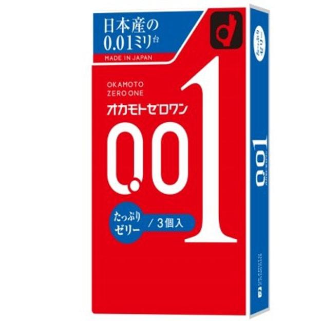 商品详情 - 日本OKAMOTO冈本 001超薄避孕套超润滑0.01mm安全套 3只装 - image  0