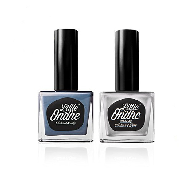Product Detail - Little Ondine Natural Water-Based Fingernail Lacquer Peel off Nail Polish Set 2 Bottles in 1 Box - image 0