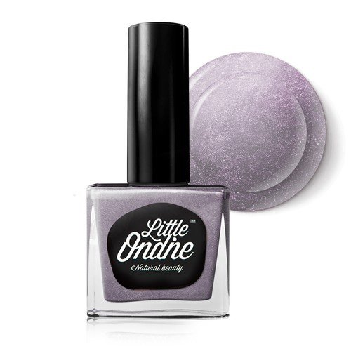 Little Ondine Water-based Peel off Odor Free Quick Dry Non Toxic Nail Polish-Glitter Grey 0.36 Fl Oz(L748-Mermaid Tears)