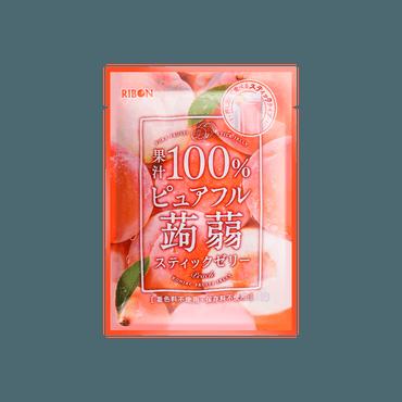 日本RIBBON 白桃果冻 130g