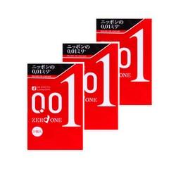 【三盒装】日本OKAMOTO冈本 001系列 超薄安全避孕套 3个入 *3盒