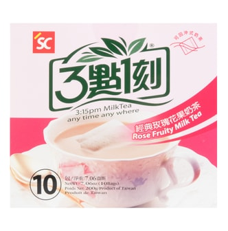 3:15PM Rose Fruity Milk Tea 10Bags 200g