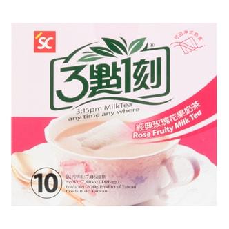 台湾三点一刻 经典玫瑰花果奶茶 10包入 200g