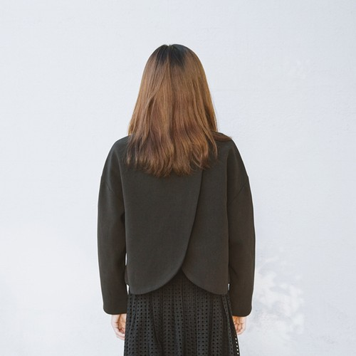 MOIS Split Back Blazer BLACK XS