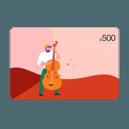 【95折】亚米电子礼卡 价值$500