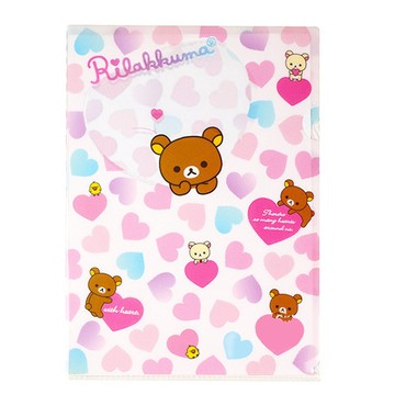 Rilakkuma Pink Clear A4 File Folder