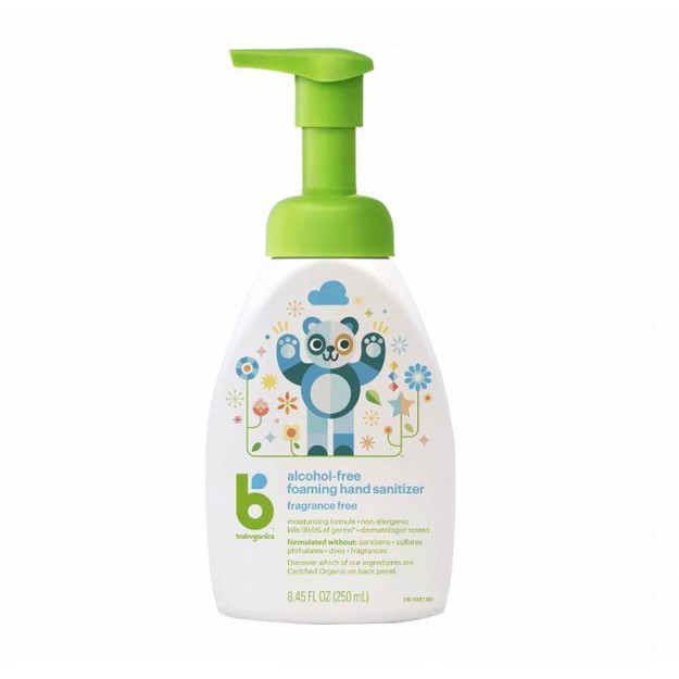 Product Detail - Babyganics Alcohol-Free Foaming Hand Sanitizer Fragrance Free 250ml Children Safe - image 0