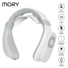 【遥控语音款】爆款MORY脉冲颈椎按摩器肩颈部按摩仪多功能家用护颈仪加热遥控 1件