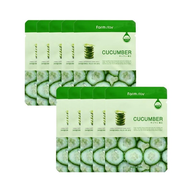 Product Detail - KOREA FARMSTAY Visible Difference Mask Cucumber 10pcs - image  0