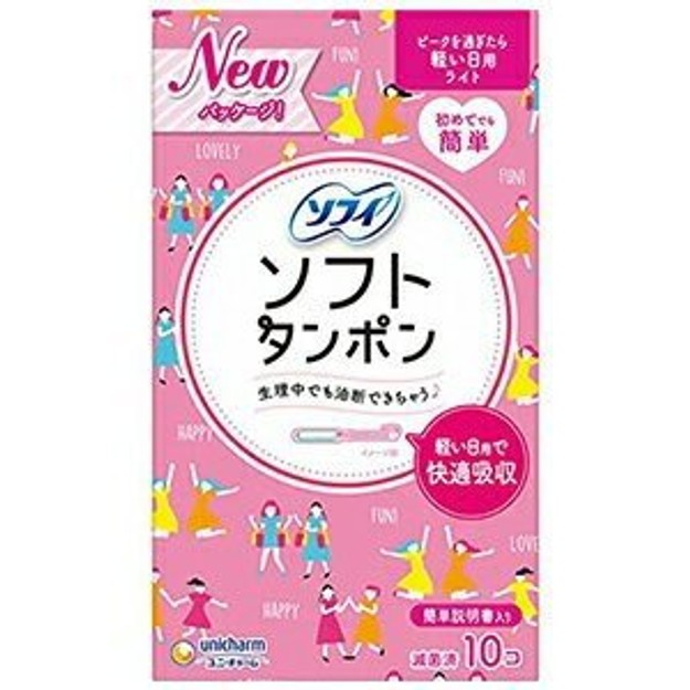 Product Detail - JAPAN UNICHARM Catheter Built-In Tampon Pink 10each - image 0