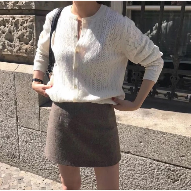 Product Detail - PRINSTORY 2019 Fall/Winter Korean Style Short Skirt M - image 0