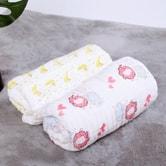 Qbedding Pink Elephant Gauze Cotton Baby Blanket