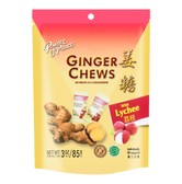 PRINCE OF PEACE Ginger Chews with Lychee Flavor 85g