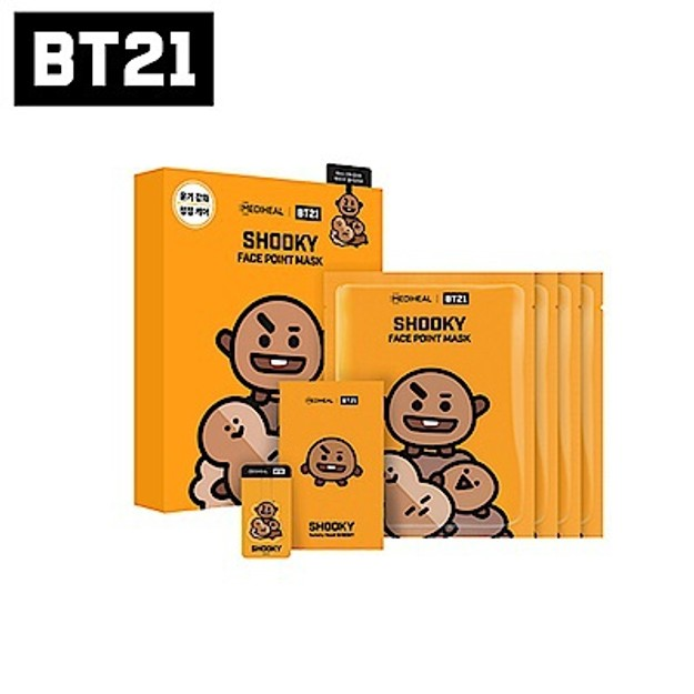 MEDIHEAL BT21 SHOOKY Face Point Mask (4pcs)
