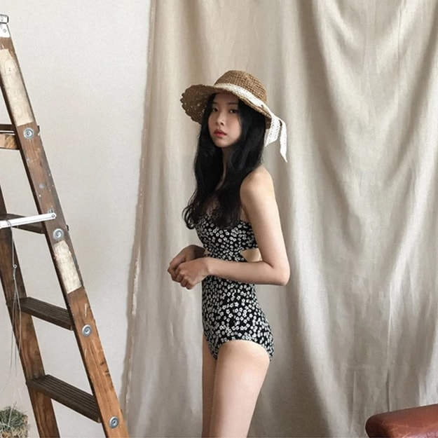 Product Detail - PRINSTORY 2019 Spring/Summer Floral One-piece Swimsuit M - image 0