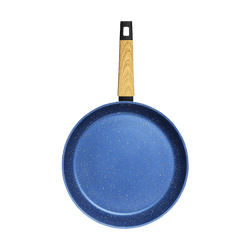 """CONCORD Art of Cooking 12"""" Granite Nonstick Coated Cast Aluminum Frying Pan Induction Compatible #Ocean Blue"""