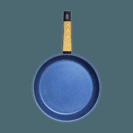 "Art of Cooking 12"" Granite Nonstick Coated Cast Aluminum Frying Pan Induction Compatible #Ocean Blue"