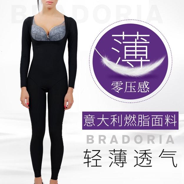 商品详情 - 美国BRADORIA 意大利无痕瘦身衣 长袖长裤 黑色 XXXL 码 #61002 - image  0