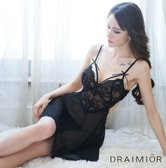 DRAIMIOR    sexy pajamas with small breasts black S code