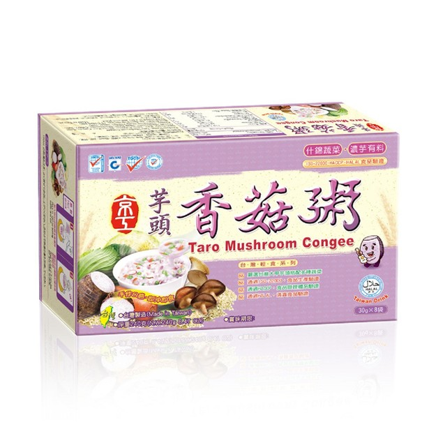 商品详情 - [台湾直邮] 京工 芋头香菇粥  240g 8入 - image  0