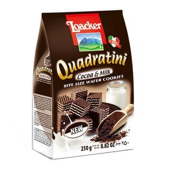 意大利LOACKER莱家 QUADRATINI 华夫小威化 可可牛奶味 250g
