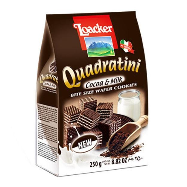 商品详情 - 意大利LOACKER莱家 QUADRATINI 华夫小威化 可可牛奶味 250g - image  0