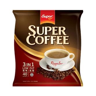 新加坡SUPER超级 三合一低脂即溶咖啡 原味 20g*40条入