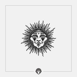 @BECOME Original Tattoo Stickers Sun god One Piece
