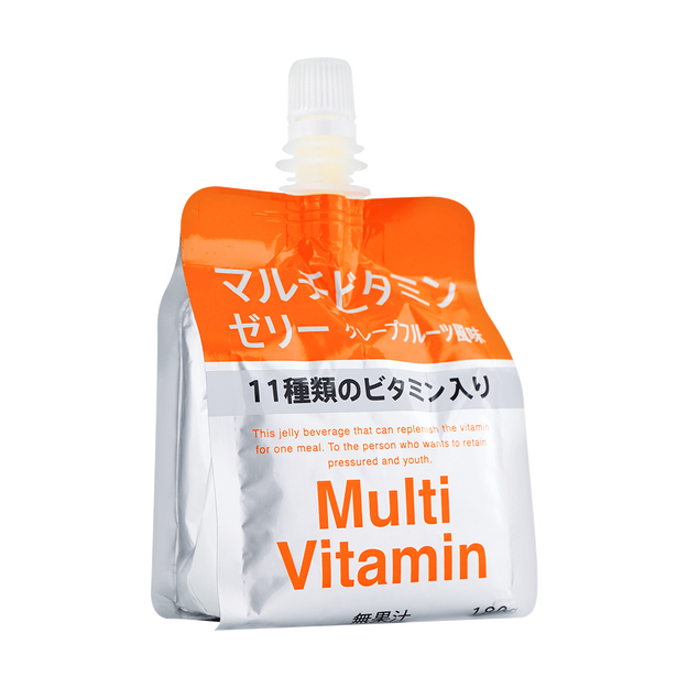 商品详情 - 日本J-HOLDINGS 维生素纤维啫喱果冻 葡萄柚味 180g - image  0