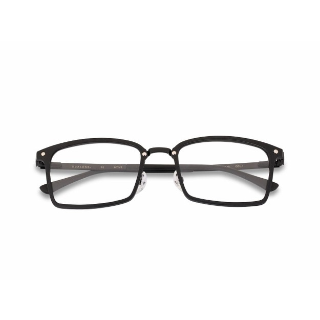 DUALENS Blue Light Blocking Eyeglasses - Black (DL75020 C1)