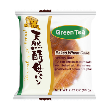 【EXP 11/20/2020】D-PLUS Natural Yeast Bread Green Tea Flavor 80g
