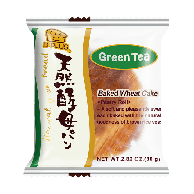 Product Detail - 【EXP 12/14/2020】D-PLUS Natural Yeast Bread Green Tea Flavor 80g - image 0