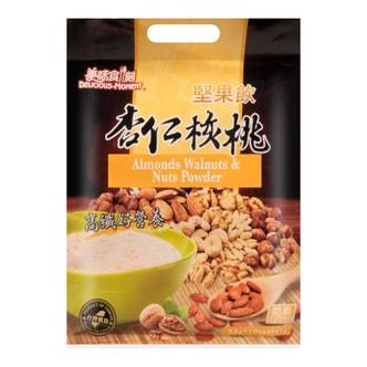 台湾美味食刻 坚果饮 杏仁核桃 10包入 330g