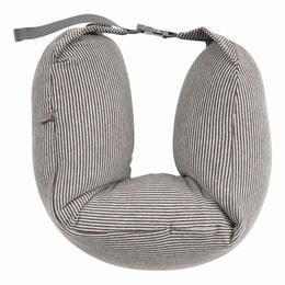 JIWU Japanese Multipurpose Neck Pillow Light Brown Stripe