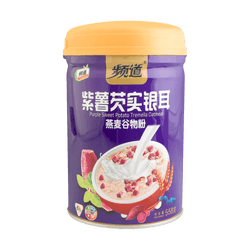 SHUANGJIEJINQUE Purple Sweet Potato Tremella Oatmeal Cereal Powder (Canned) 558g