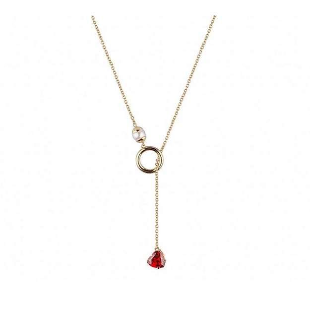 Product Detail - DE YEEN Loving Heart Clavicle Chain Necklace 1pc - image 0