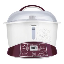 HANNEX Electric Cooker Stew Pot 2.2 L Red ESTJ222W 2-6 People Serving