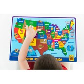 UNCLEWU 美国地图儿童智趣教育餐垫