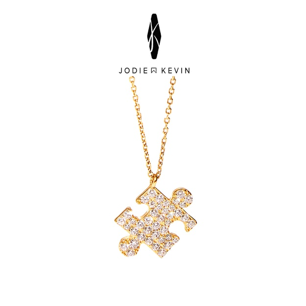 JODIE&KEVIN  Jigsaw 925 Silver Necklace #Gold 1 Piece