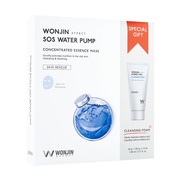 Product Detail - WONJIN EFFECT SOS Water Pump Concentrated Essence Mask 10pcs - image 0