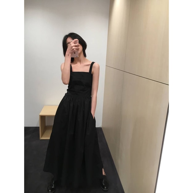Product Detail - PRINSTORY 2019 Spring/Summer Princess Black Strap Dress L - image 0