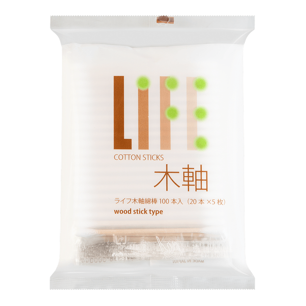 Product Detail - LIFE Disposable Premium Cotton Swabs Individual Wrap 100pcs - image 0