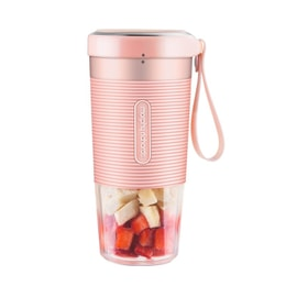 TIMESWOOD Rechargeable Blender Mixer Portable Mini Juice Machine Smoothie Maker Household Juice Extractor Pink 1 pc