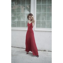 VERAFIED Rosa Silk Dress Red One-sized