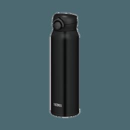 THERMOS 膳魔师||一触式轻量便携真空隔热保温杯||黑色 750ml 1个