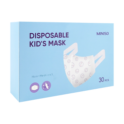 MINISO SHUJIE Disposable 3 Layers Kid's 3D Mask Fit 3-6years old Children 30 pcs