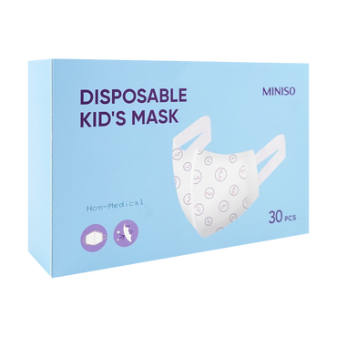 MINISO SHUJIE Disposable 3 Layers Kid's 3D Mask Fit 3-10 years old Children 30 pcs