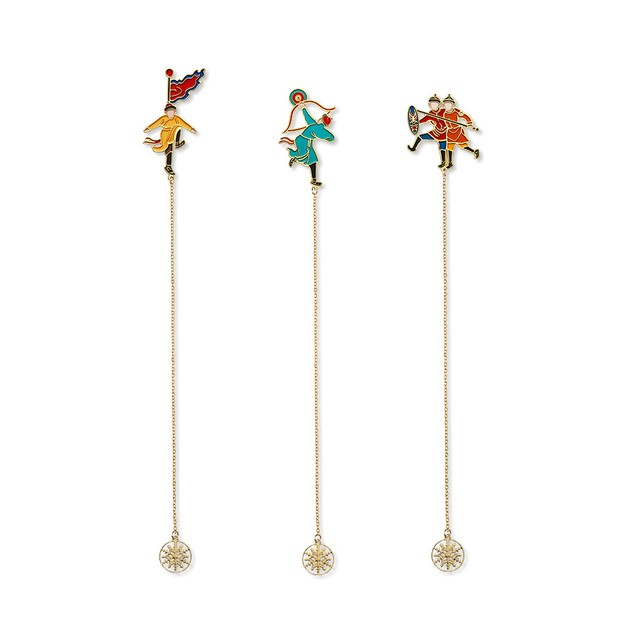 Product Detail - THE PALACE MUSEUM  Bookmark # Ice Game the Skating Archer - image 0
