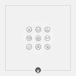 @BECOME Original Tattoo Stickers Emoticon One Piece